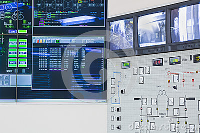Control room in power factory