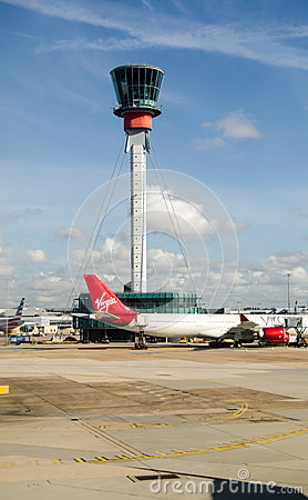 Control Tower, Heathrow Airport, London Editorial Image