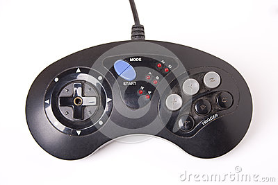 Controlador retro do jogo de vídeo