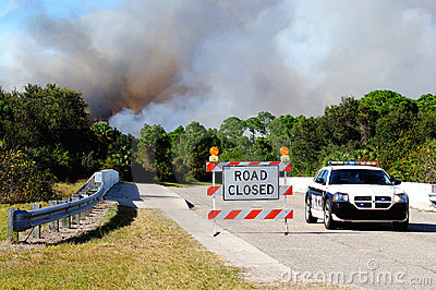 Controlled Burn Security Editorial Stock Image