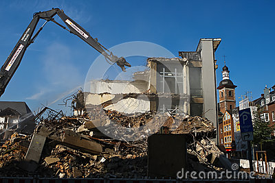 Controlled Demolition Editorial Image