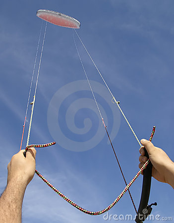 Controlling high flying kite