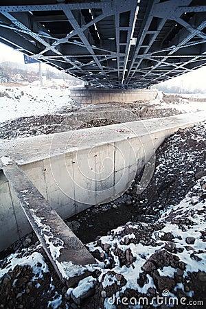 Contructing metal bridge