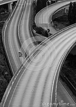 Free Convergence Of Many Freeways Stock Photo - 24348410