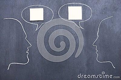 Conversation. Stock Photo