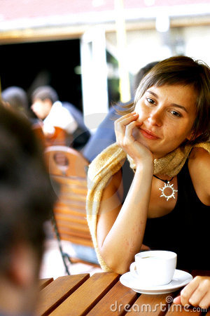 Conversation at coffee