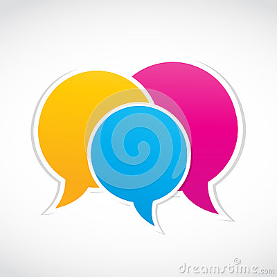 Conversation dialog stickers
