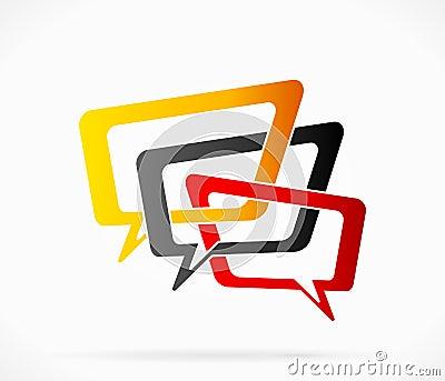Conversation logo Vector Illustration