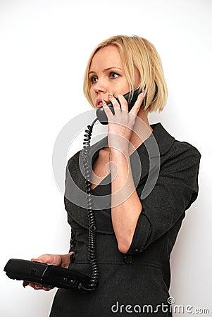 Conversation on a phone