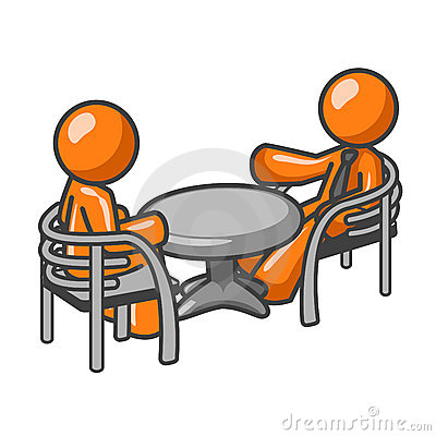 Conversation at table