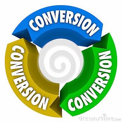Free Conversion 3 Arrows Cycle Sales Process Royalty Free Stock Image - 61928396