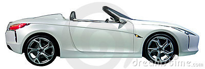 Convertible car isolated