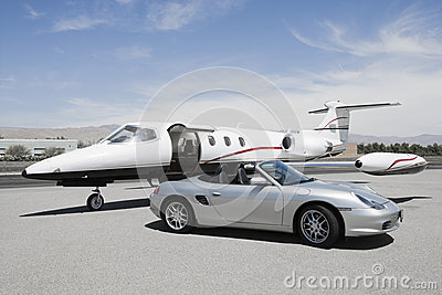 Convertible And Private Jet Editorial Photography  Image 30843367