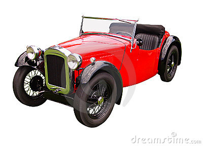 Convertible Touring Car Isolated