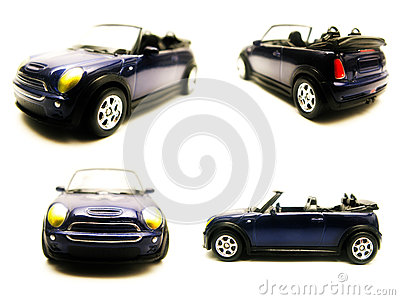 Convertible toy car model