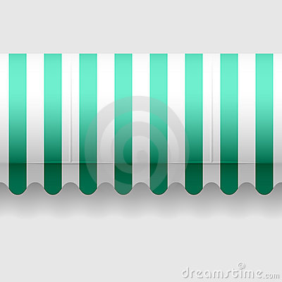 Convex awning