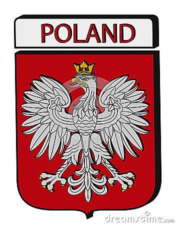 Convex Poland Emblem