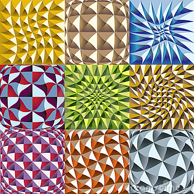 Convex twisted color squares patterns