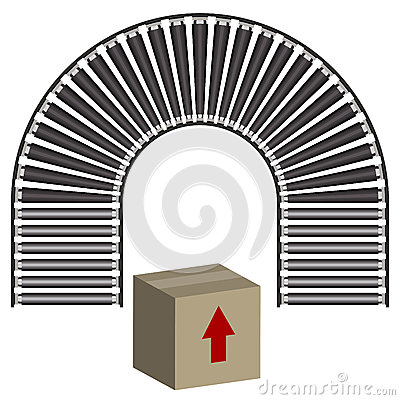 Conveyor Belt Icon Box