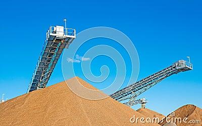 Conveyor open workings