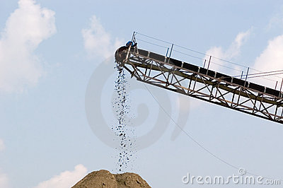 Conveyor in Quarry, Horizontal