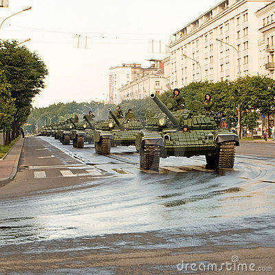 Convoy of tanks Editorial Stock Image