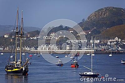 Conwy王国北部河团结的威尔士