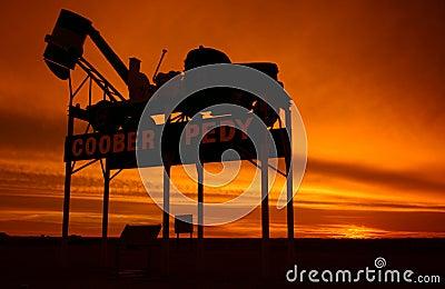 Coober Pedy - place name sign