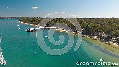 Coochiemudlo Island beach, Brisbane, Queensland, Australien stock video footage