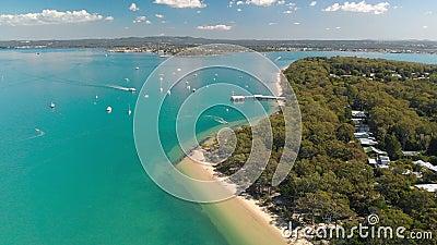 Coochiemudlo Island beach, Brisbane, Queensland, Australien stock footage
