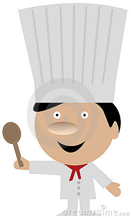 Cook chef standing in uniform