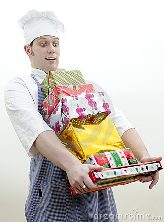 Cook with christmas gifts