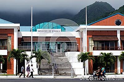 Cook Islands Minister of Justice building in Avarua Rarotonga Editorial Photo