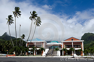 Cook Islands Minister of Justice building in Avarua Rarotonga Editorial Photo