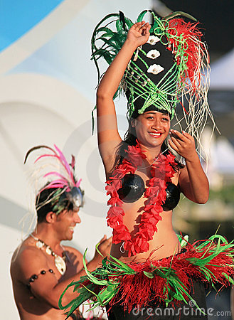 Cook Islands Oire Nikao Dance event Editorial Photography
