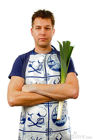 Cook with leek