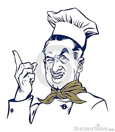 Cook man smile
