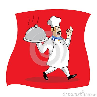 Cook serving food