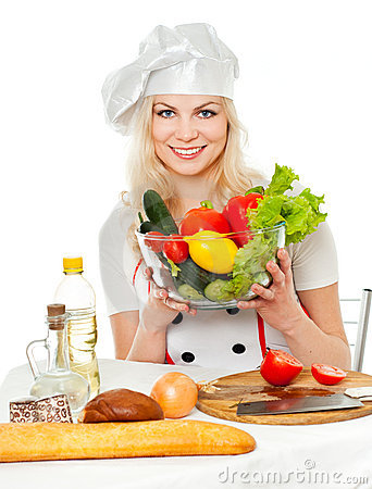 Cook with vegetables