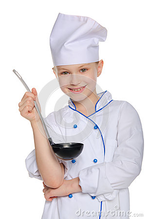 Free Cook With A Ladle Royalty Free Stock Image - 35453206