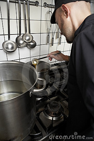 Cook at work