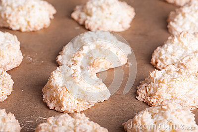 Cooked coconuts cookies
