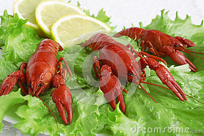 Cooked crayfish plate