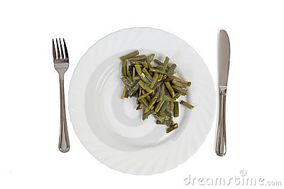 Cooked cut green bean