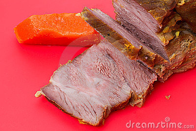 Cooked meat with pumpkin