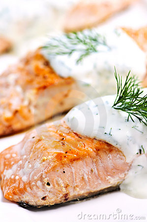 Free Cooked Salmon Stock Photography - 6514952
