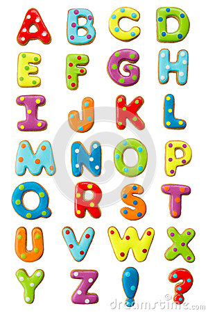 Free Cookie Alphabet Royalty Free Stock Images - 24786329