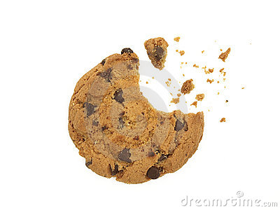 Cookie with a bite