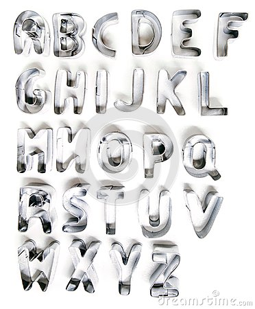 Free Cookie Cutter Letters Stock Photos - 111323273