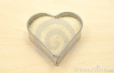 Cookie cutter with sugar